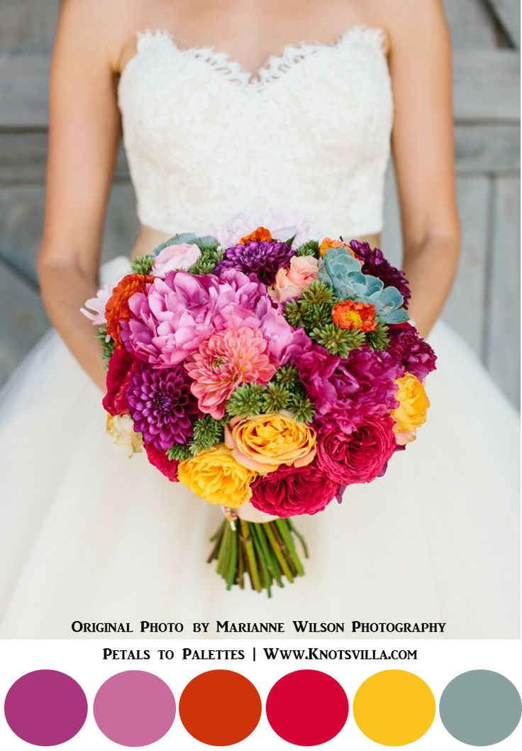 Beautiful Colorful Bouquets: 15 Most Colorful Wedding Bouquets So Far » KnotsVilla