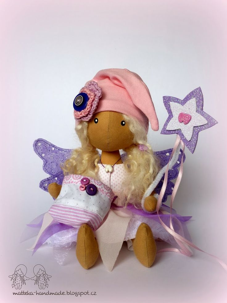 hand made by matteka: ♥Purple tooth fairy♥