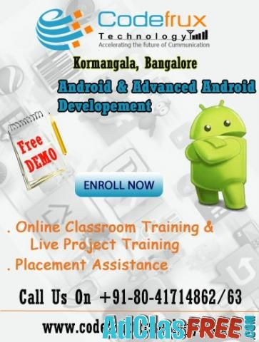 Android online training at CodeFrux Technologies - US Classified Ads | Post Free Ads Online, Free Adversiting
