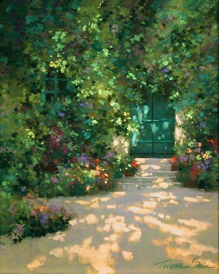 gardeners door by teresa saia pastel 20
