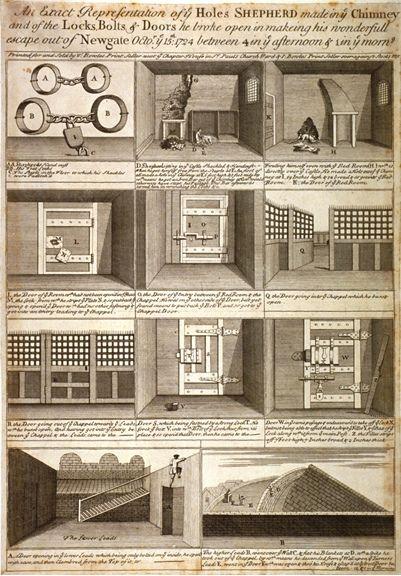 Jack Sheppard Escaping Prison, 1724 by London Metropolitan Archives, via Flickr