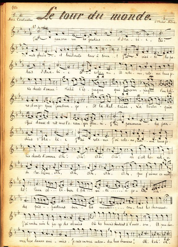 Partition musicale 1900 bis