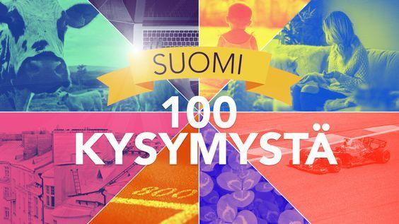 Satavuotiaan Suomen tuntemusta testataan tietenkin sadalla kysymyksellä. Mukana on historiaa ja nykyaikaa, tiukkoja faktoja ja leikkimielisiä kompakysymyksiä.