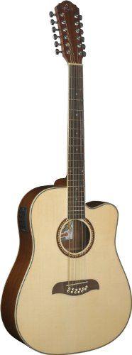 Oscar Schmidt OD312CE 12-Strings Acoustic-Electric Guitar – Natural