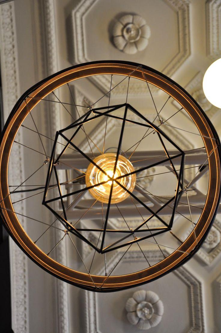NORDI: DIY Lampe - bestående af cykelreservedele