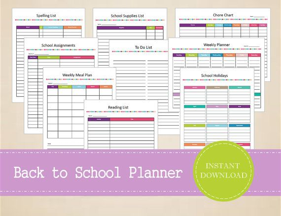 Back to School Planner - Back to School Organizer