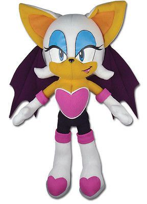 "Sonic The Hedgehog Rouge The Bat 11"" Plush Stuffed Toy Doll NEW! FREE SHIPPING!"