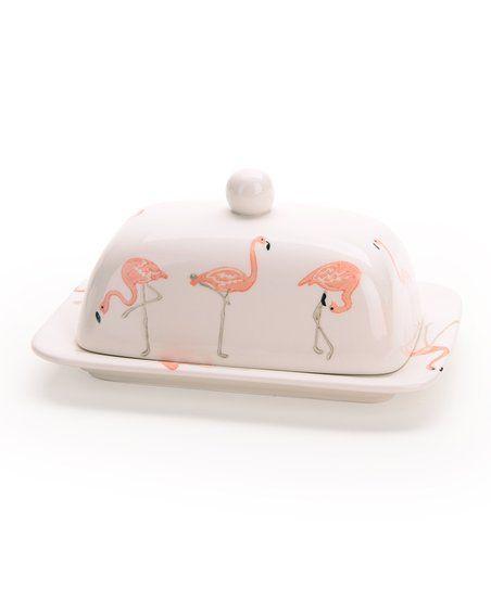 Signature Housewares Flamingo Butter Dish | zulily