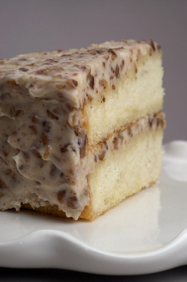 Nuts and white chocolate make this Butter Pecan Cake a delicious, irresistible dessert. - Bake or Break