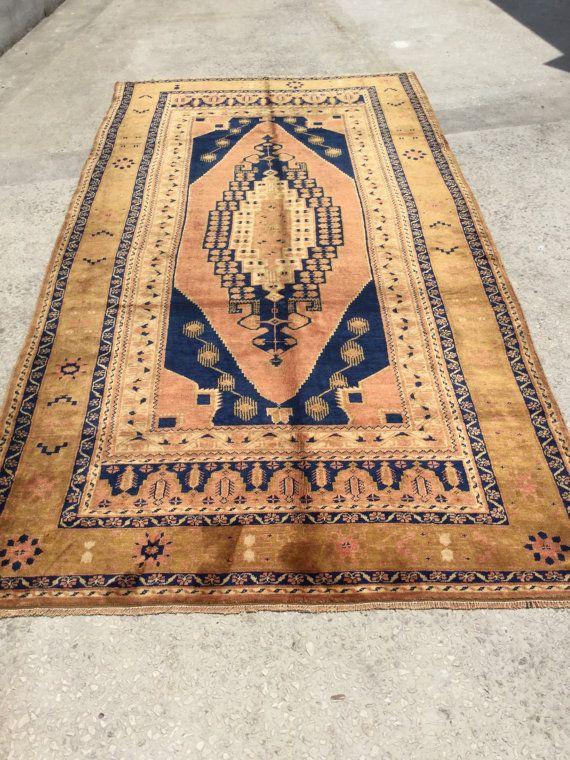 290x157 cm 9.5x5.2 Handwoven turkish carpet rug natural wool