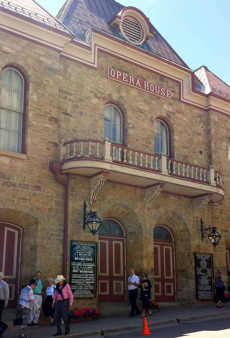 The Central City Opera House--the oldest operating ipera house in the USA located in Central City, Colorado