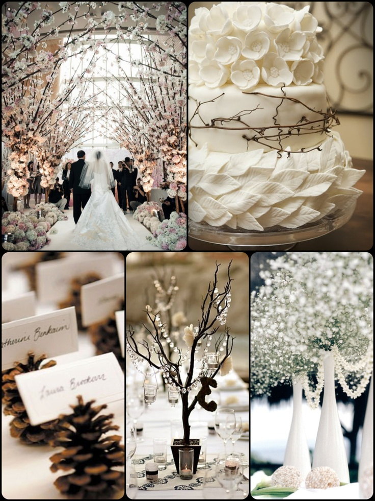 Winter Wedding Board.  These photos are just images.  Beautiful!