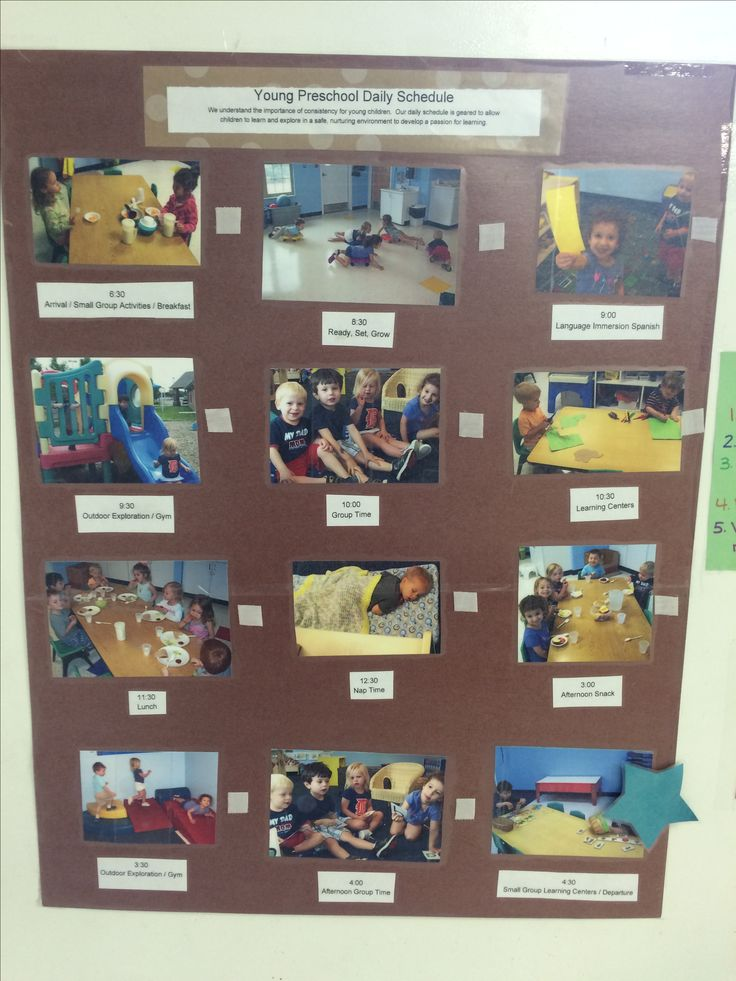 Daily picture schedule from our yps classroom at our