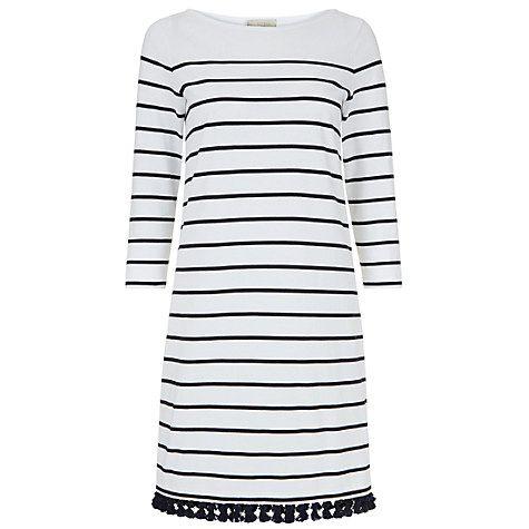 Buy Hobbs Sally Tassel Dress, Navy/Ivory Online at johnlewis.com