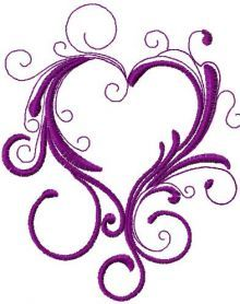 Delightful Vintage Heart Free Embroidery Design 2. Machine Embroidery Design.  Www.embroideres.com