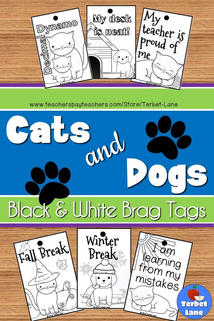 Kitten And Puppy Themed Brag Tags For Classroom Management Motivation And Rewards Need A Quick Reward Or Motivat Classroom Rewards Teacher Help Learning Math