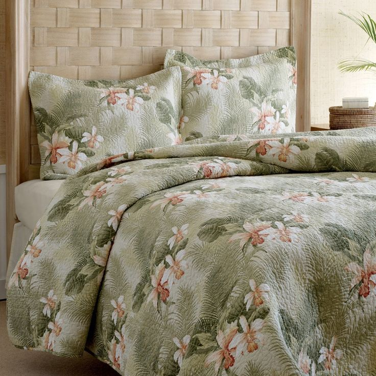 Tommy Bahama Tropical Orchid 3-piece King Size Quilt Set