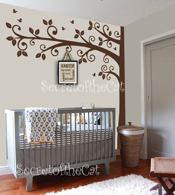 Corner Tree Wall Decal Nursery Wall Decals  Wall by secretofthecat, $90.00