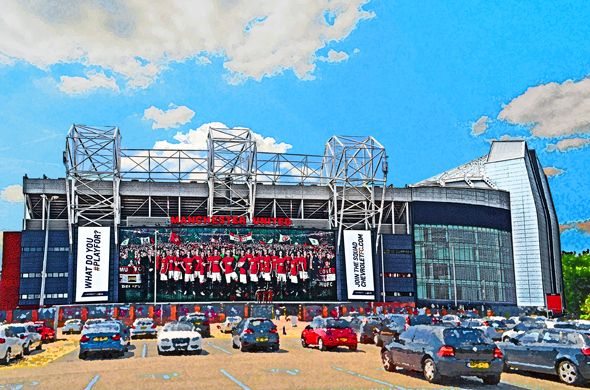 East Stand, Old Trafford; home of Manchester United FC