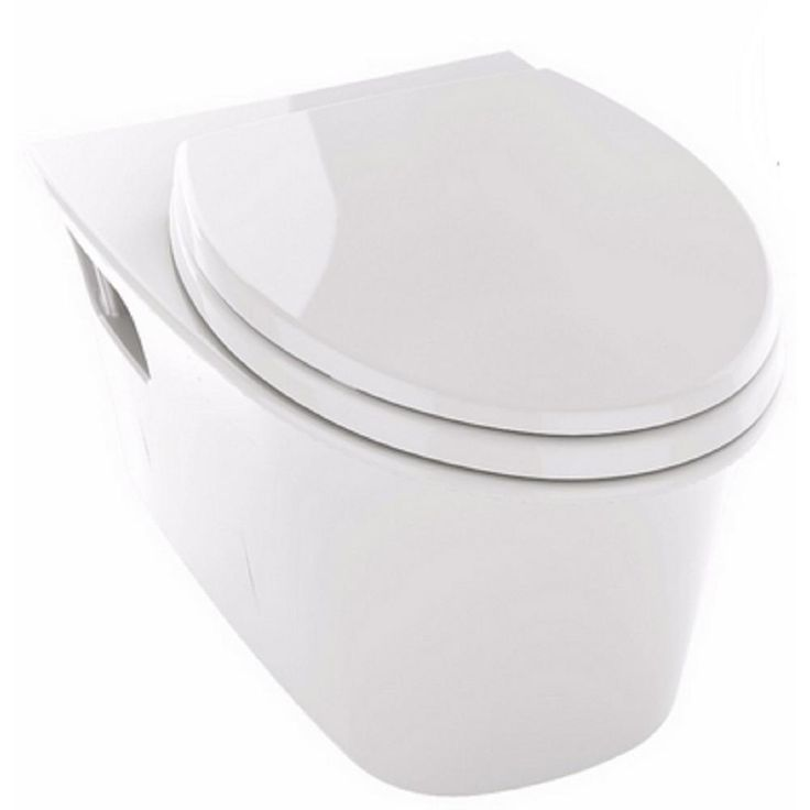 Toto Maris Wall Hung Elongated Toilet Bowl Only in Cotton White-CT486FG#01 - The Home Depot