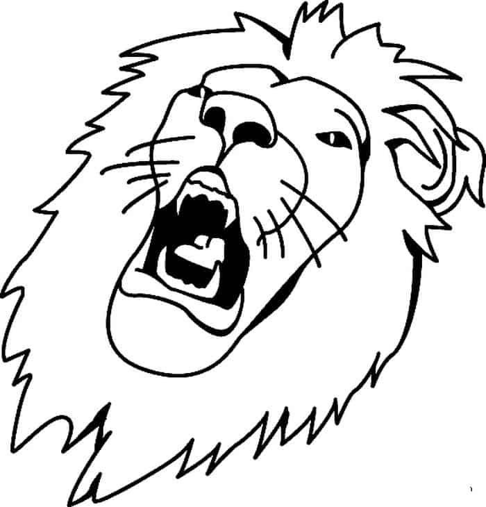 Lion Face Coloring Pages - GetColoringPages.com | 730x700