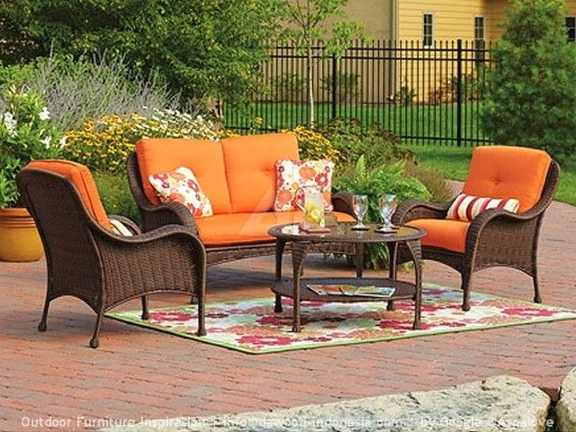 Lake Island Conversation Set Replacement Cushions Garden Winds Throughout Better Homes And G Patio Furniture Cushions Garden Patio Furniture Fire Pit Furniture