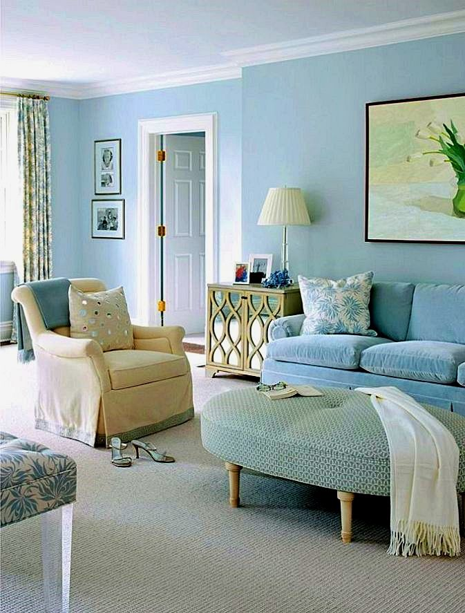 Square Coffee Table In The Living Room Blue Walls Living Room Light Blue Living Room Living Room Colors