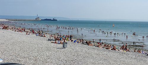 Panorama Le Havre beach, France