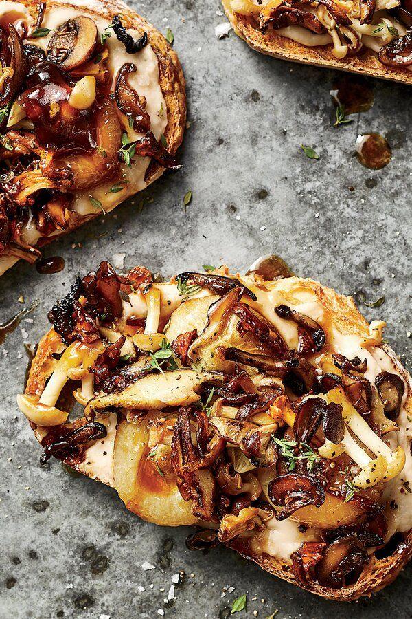 Mushroom and MarsalaOnion Tartines Recipe Cooking Light