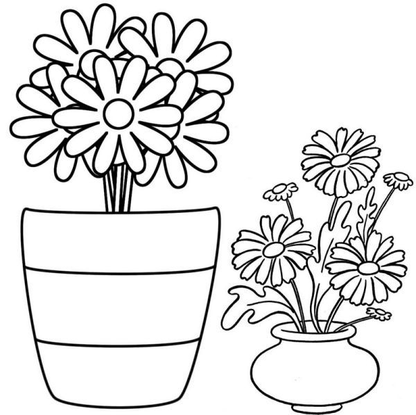 Flower Pot Coloring Pages Collection Free Coloring Sheets Flower Pots Flower Coloring Pages Beautiful Flowers