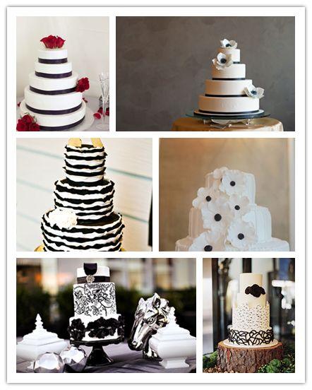 gateau mariage noir et blanc