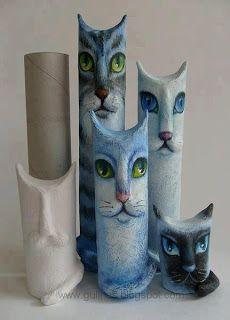 Yo reciclo, tú reciclas, todos reciclamos.: Manualidades con conos de papel higiénico