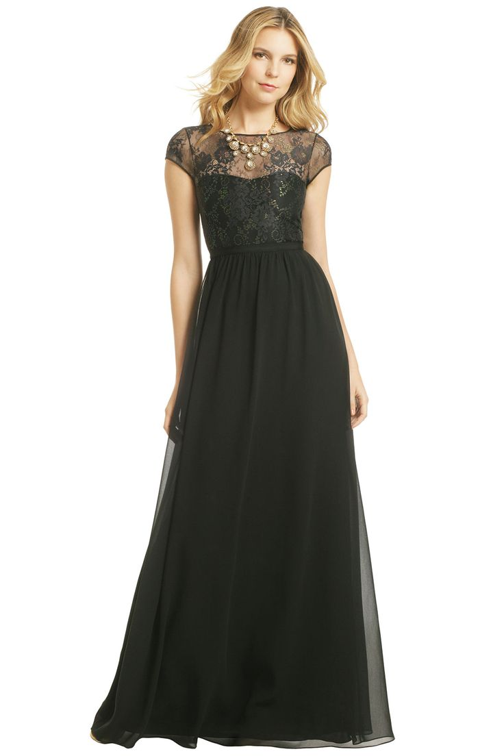 cap sleeves and i are not friends, but this is cute for somebody I'm sure--ERIN erin fetherston Such An Illusion Gown