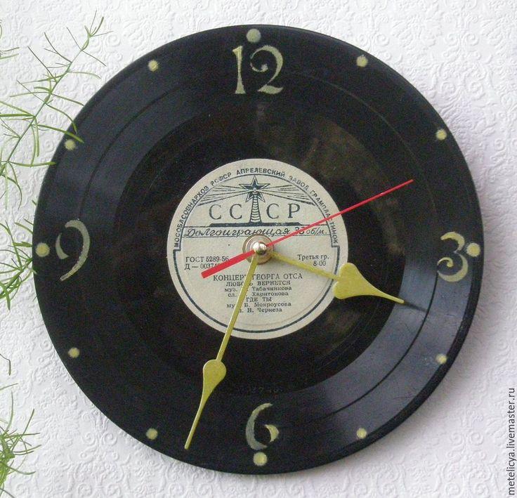 Купить Часы настенные Рожденные в СССР - черный, СССР, рожденные в ссср, часы ручной работы