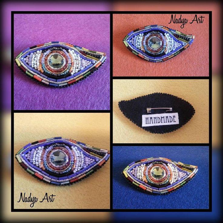 Eye brooch.  Брошь Глаз. @nadya_art_handmade in Instagram: «Глаз Гора. Я художник, я так вижу  The eye of Horus. …»