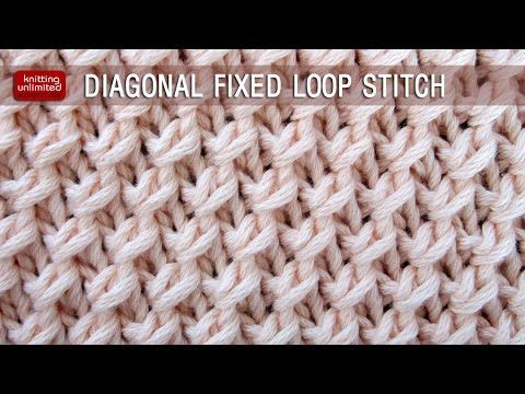 Knitting Unlimited: Diagonal Fixed Loop Stitch