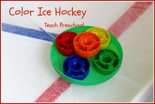 Color Ice Hockey by Teach Preschool