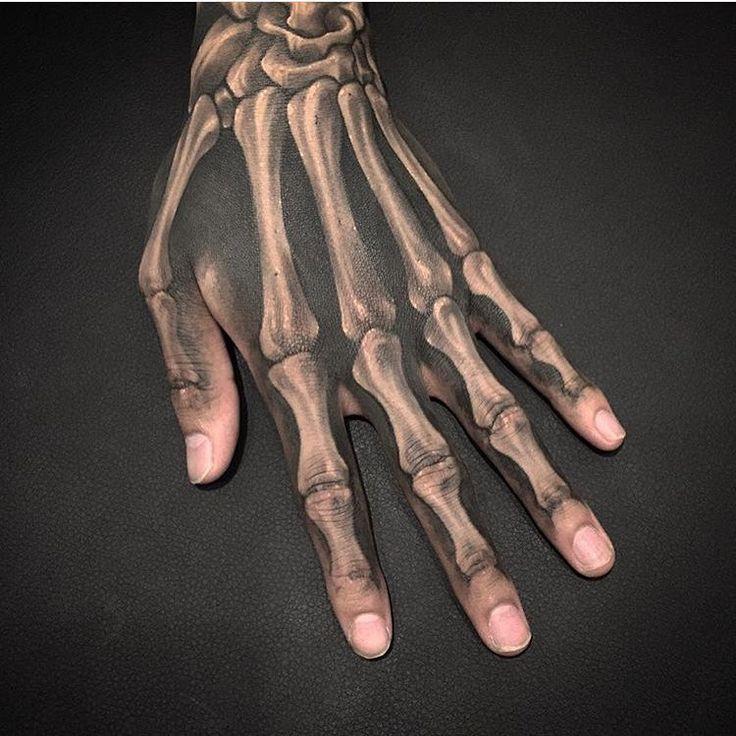 best 25 skeleton hand tattoo ideas on pinterest