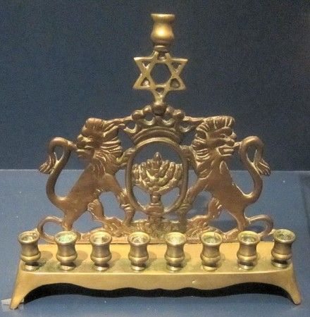 OMG this is the menorah that D's grandparents had and gave us!  A Brief History of Hanukkah #Thanksgivukkah