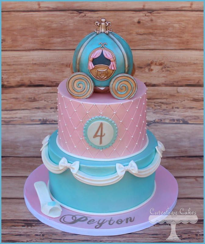 My Fave Tiered Cinderella Carriage Cake Ever - by Cuteology Cakes on CakesDecor - http://cakesdecor.com/cakes/107342-cinderella-cake