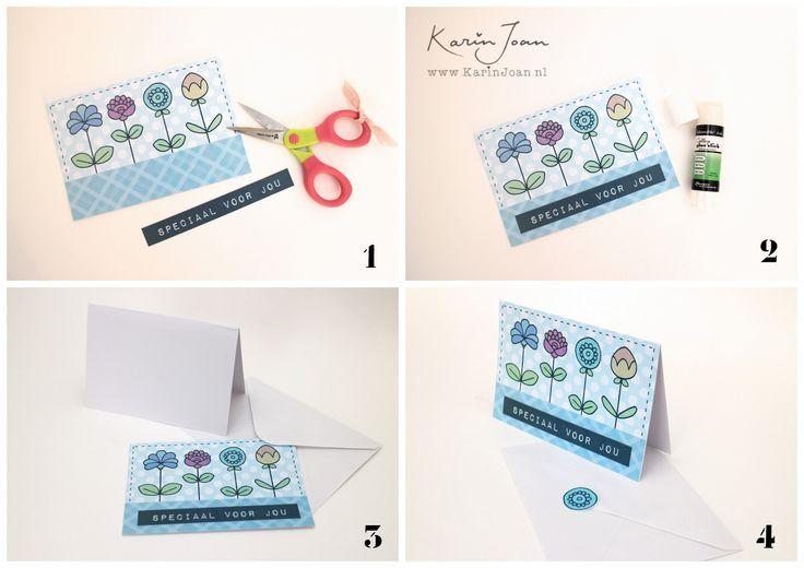 Karin Joan: GRATIS Print Knip Retro Bloemen download