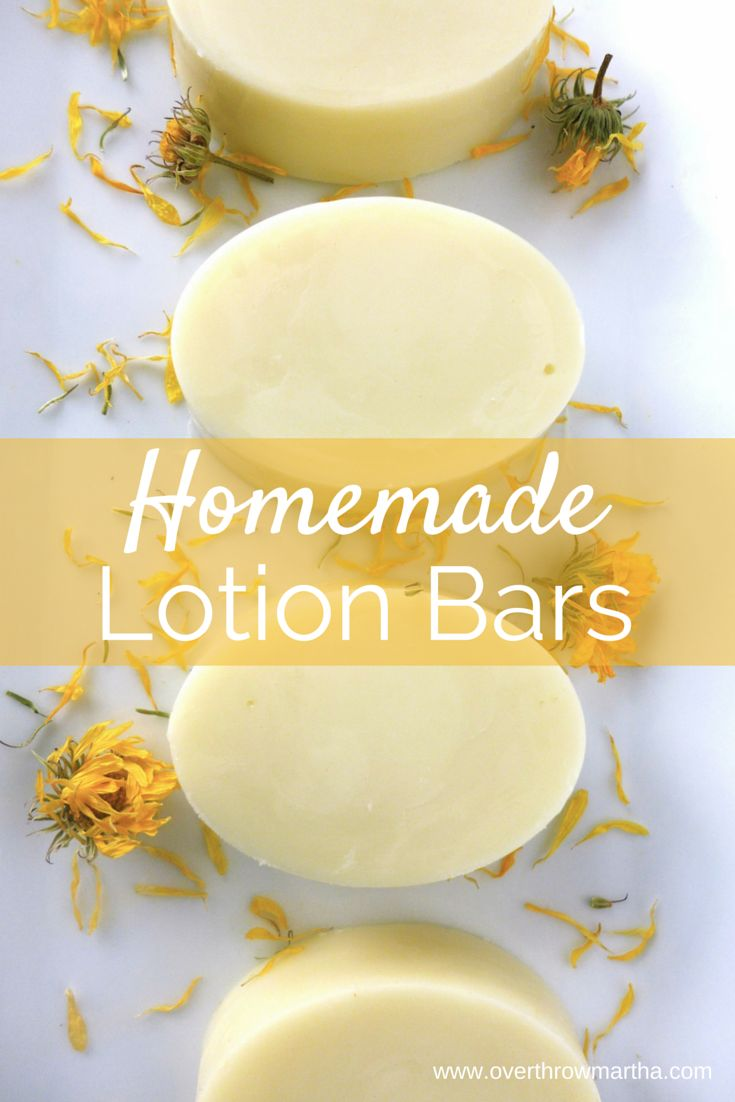 How to make #homemade lotion bars for dry, irritated skin using #essentialoils and #calendula for a great #DIYbeauty recipe