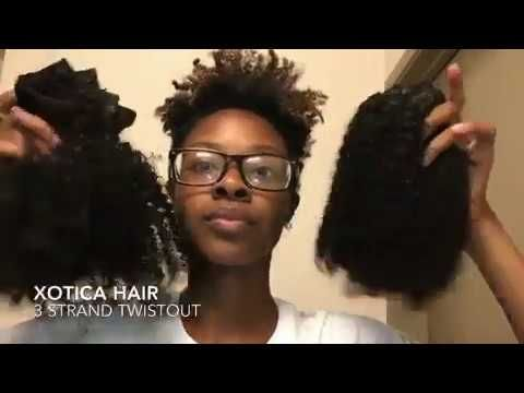Half up half down w/Xotica Hair clip ins - YouTube