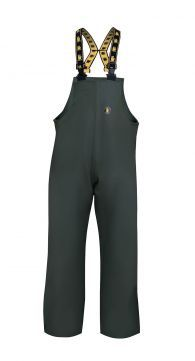 WATERPROOF SEA BIBPANTS Model: 006 The smock is made with adjustable elasticated braces. The fabric used for production is called Plavitex Heavy Duty as it is a strong waterproof fabric recommended for fishing industry and for hard work conditions at sea. Thanks to double welded high frequency seams the product protects against rain and wind and salt water. The product conforms with the EN ISO 13688 and EN 343 standards.