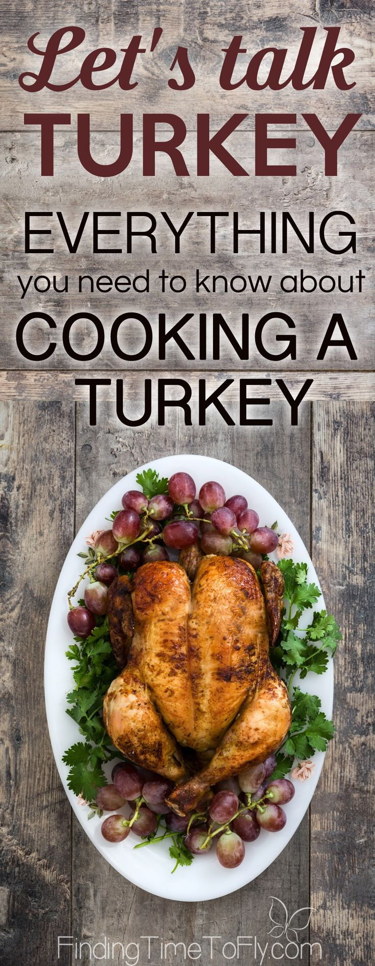 This is what I've been looking for! Everything about cooking a turkey in one place. How much turkey to buy, how to thaw a turkey, preparing a turkey for baking, and simple instructions for roasting a turkey.