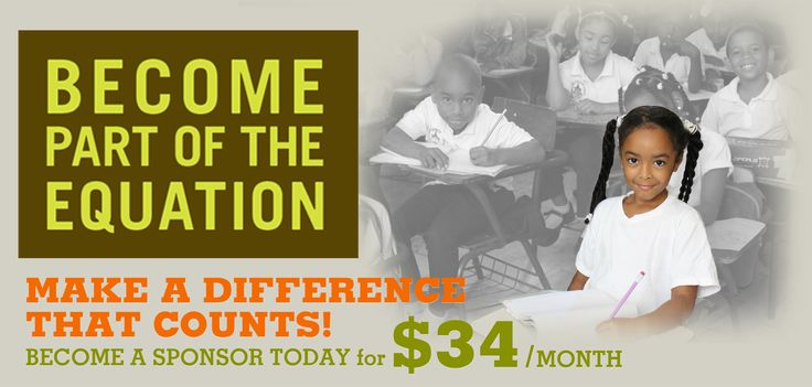 Become part of the equation! Make a difference that counts by becoming a sponsor today for only $34/month!