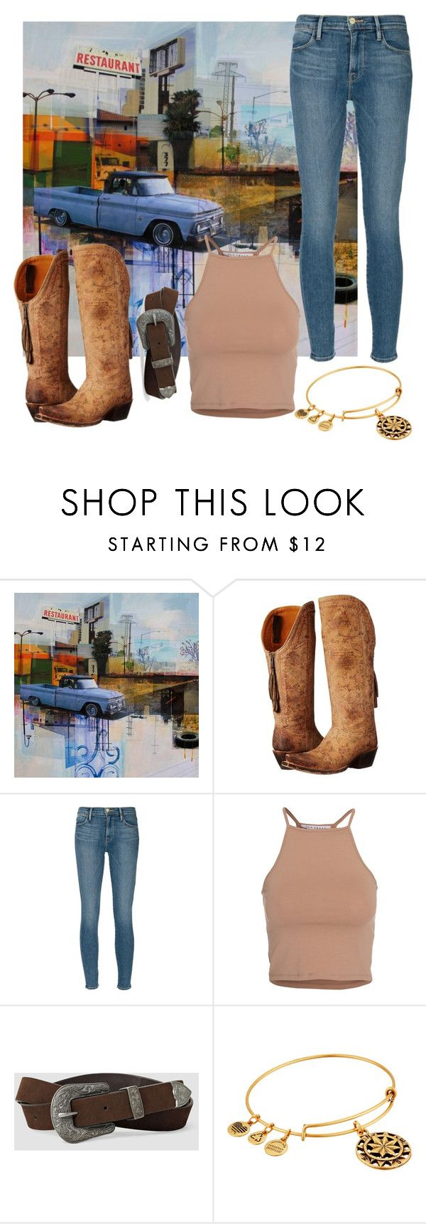 """""""walk on the wild side"""" by marypxppins ❤ liked on Polyvore featuring Lucchese, Frame, NLY Trend, AllSaints and Alex and Ani"""