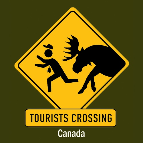 Canadian T-Shirt (Adult) - Tourists Crossing - $19.95