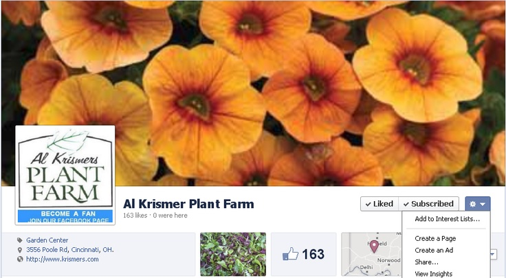 Become a fan of our facebook. Tips on gardening plus lots of valuable information. Latest update on new varieties for 2013. Join our community of gardeners and plant lovers. Share what you know. Click here at https://www.facebook.com/krismerplantfarm