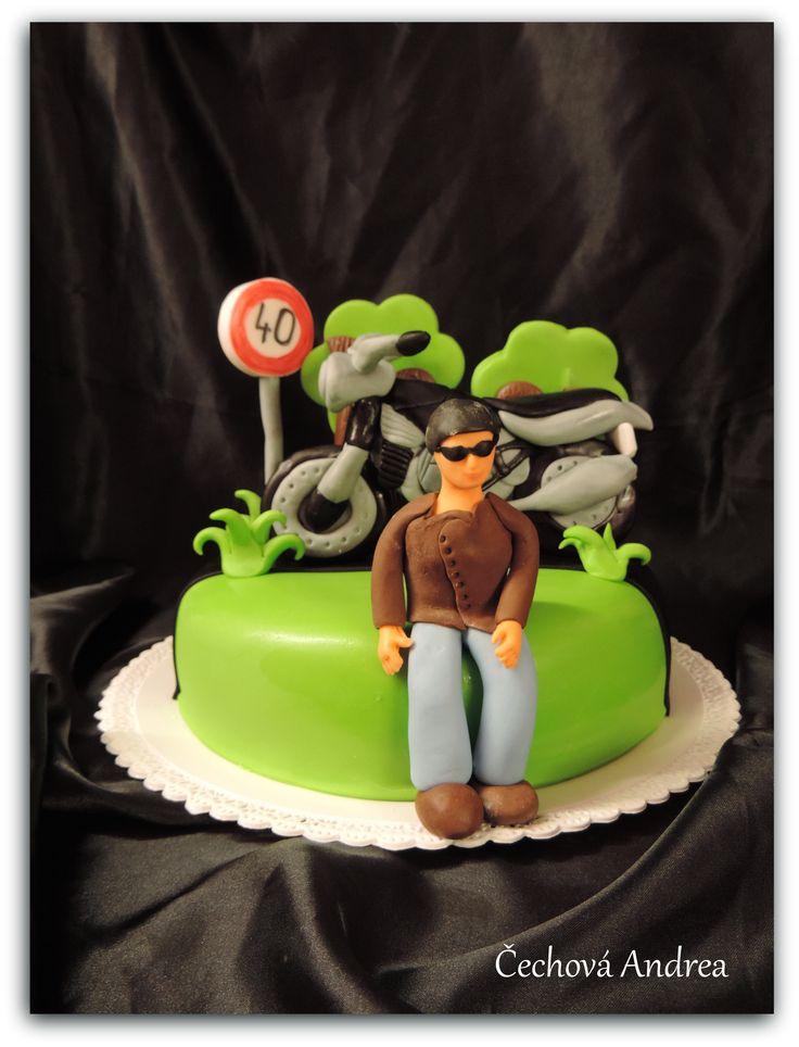 dort s motorkou, motorist cake